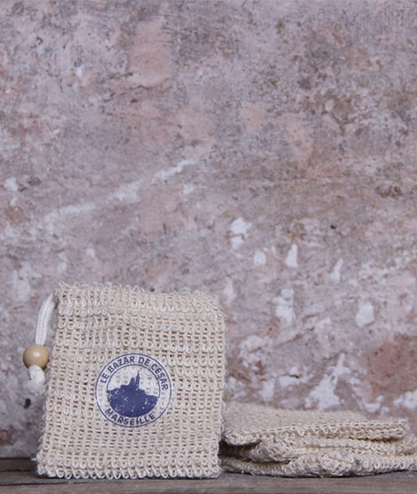 Pochette à savon en sisal